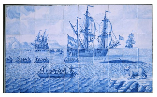 2 tile pictures with shipping subjects