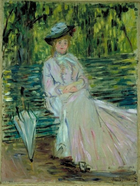 Dame assise dans un parc or Woman Seated on a Bench