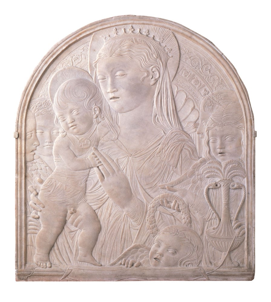 Virgin and Child with Five Angels