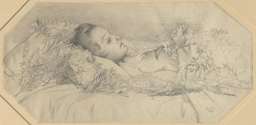 Portrait of Frederick Sitwell on his deathbed