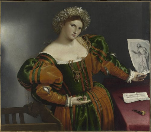 A Lady with a Drawing of Lucretia