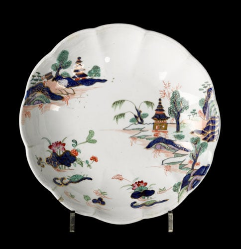 Five pieces of Chinese, Japanese and European porcelain