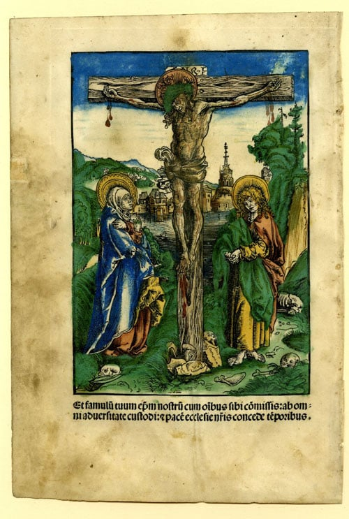Christ on the Cross between Mary and St John