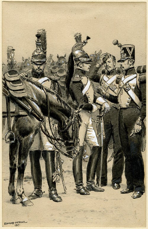 A Group of French Cavalry Officers