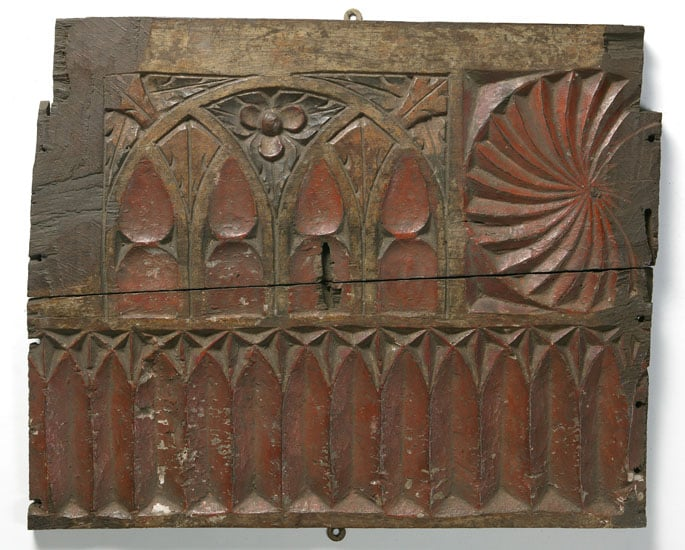 Collection of eight fragments of medieval woodwork