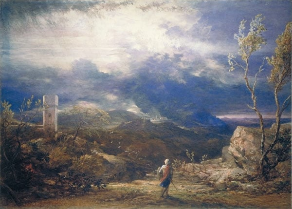 Christian descending into the Valley of Humiliation