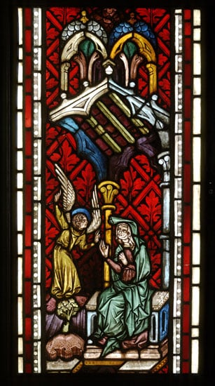 Two Panels of Stained Glass