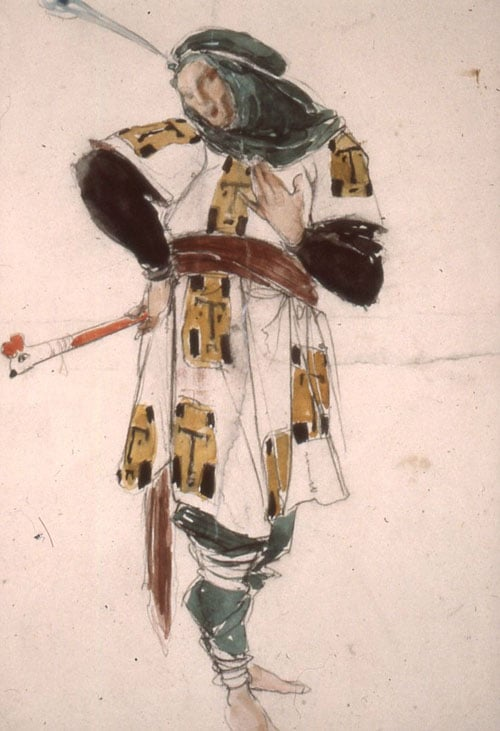 Costume design for The Fool in 'King Lear'