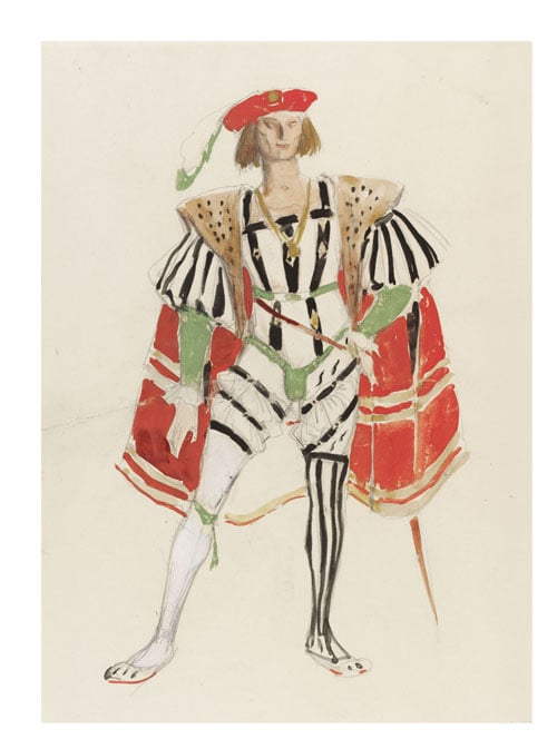 Collection of stage and theatrical costume designs