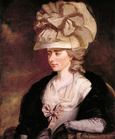 Portrait of Madame d'Arblay, (Fanny Burney) Half length, seated, dressed in th