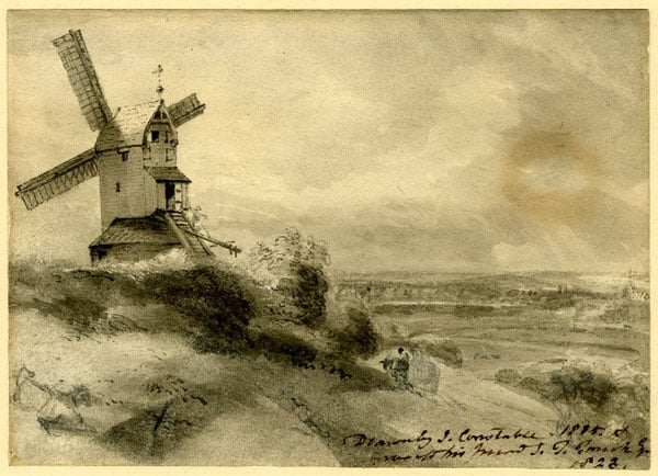 Landscape with a windmill at Stoke