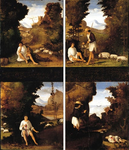 Scenes from an Eclogue of Tebaldeo