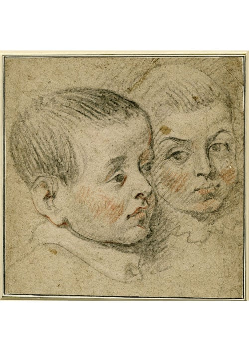 Study of the Heads of Two Boys