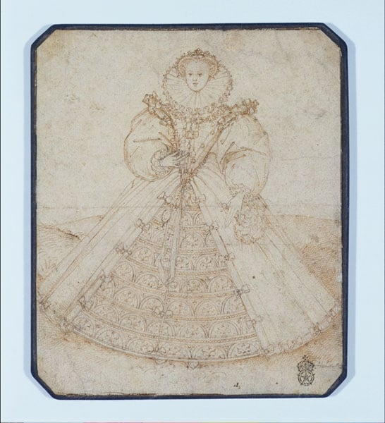 An Elizabethan Lady in Court Costume