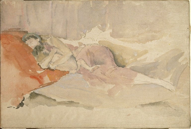 Mother and Child on a Couch