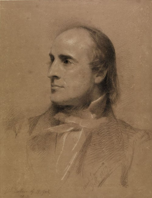 Portrait drawing of Dr H W Bellows of New York