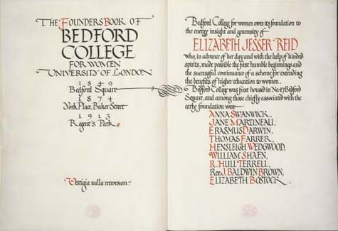 Founders: Book of Bedford College