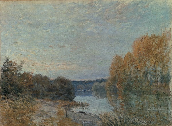 Autumn evening on the river