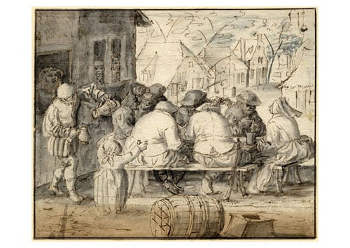 Peasants at a Table in the Open Air