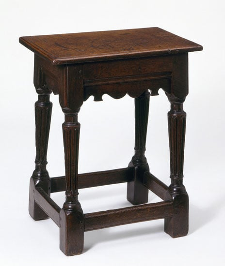 Two Gate-leg Tables, Card Table, Pair of Stools, Armchair and Pole-screen