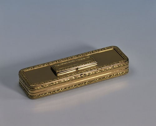 Objet d'Art toothpick case given to Lord Nelson by Lady Nelson