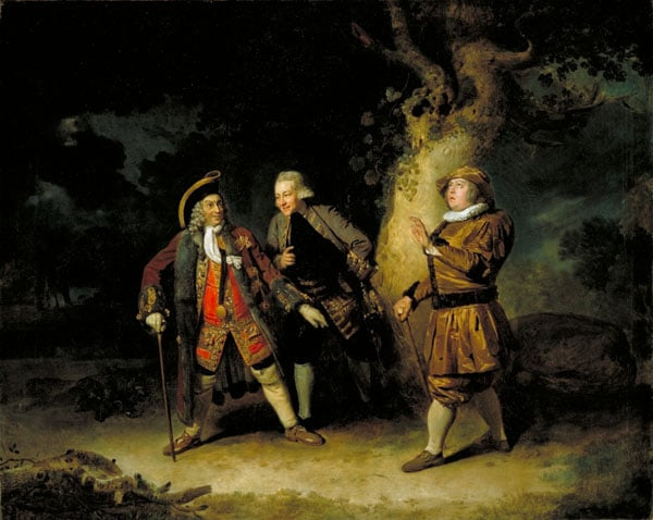 Garrick, Aicken and Bransby in 'Lethe'