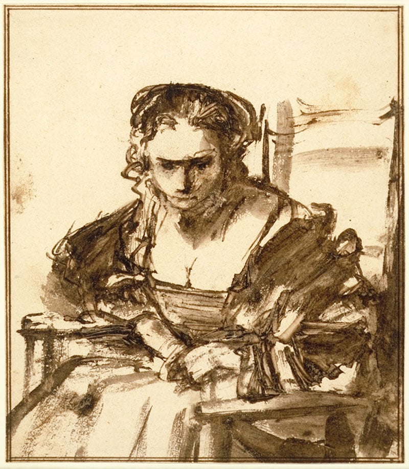 A Young Woman Seated in an Arm Chair