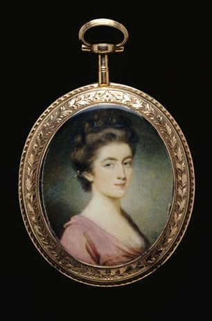Collection of English & continental portrait miniatures
