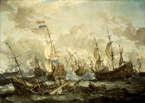 The 'Royal Prince' and Other Vessels at the Four Days' Flight, 1-4 June 1666