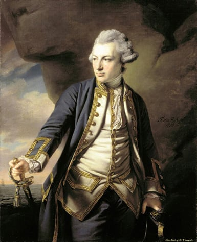 Portrait of John Jervis, Earl of St Vincent signed and dated 1769 3/4 length s