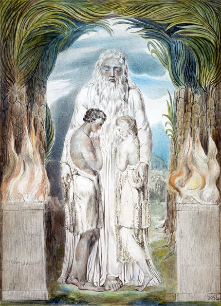 The Angel of the Divine Presence clothing Adam and Eve with skins