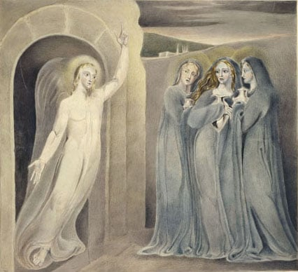 The Angel appearing to the Three Mary's at the Sepulchre
