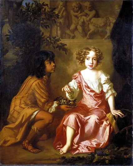 Portait of Lady Charlotte Fitzroy with her Indian Page