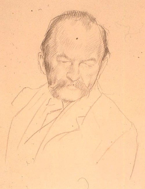 Sketch for the portrait of Thomas Hardy, OM