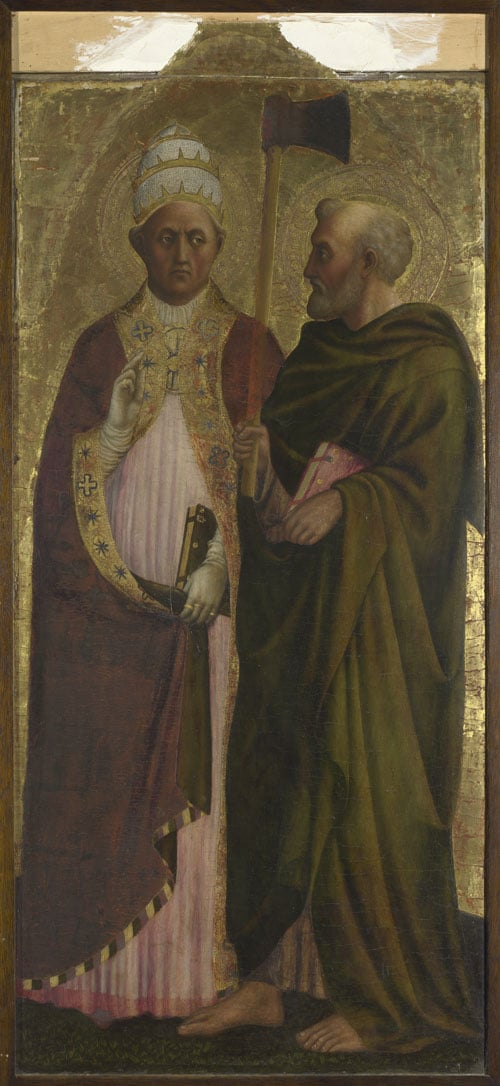 Pope Gregory the Great (?) and Saint Matthias
