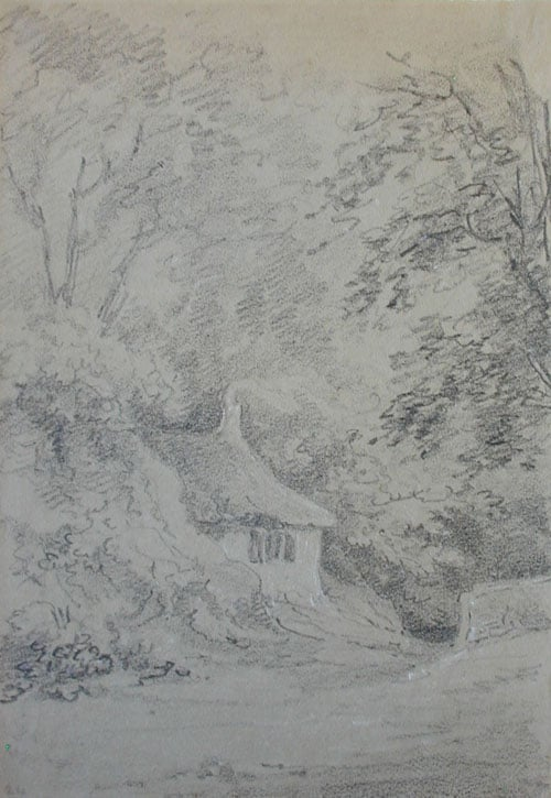 Cottage and Trees