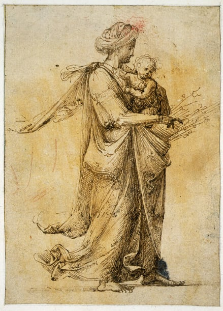 Woman carrying Child & Two Seated Figures