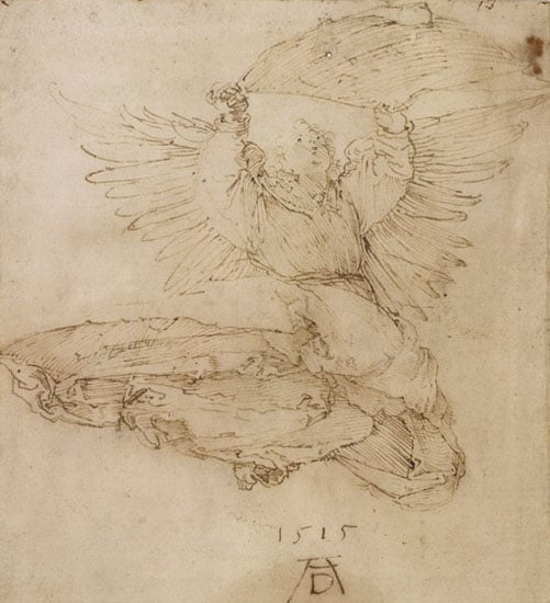 Study for the etching of the 'Angel with the Sudarium'