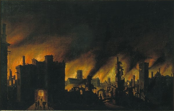 The Burning of Old St Paul's, 1666