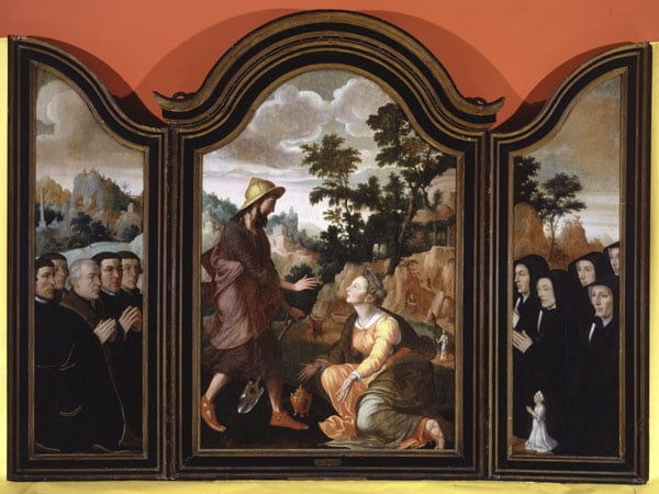 Triptych: Noli Me Tangere, with Donors