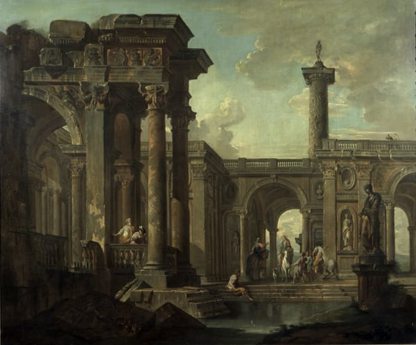 Roman Ruins with Figures