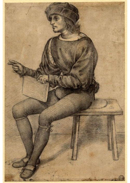 Study of a Seated Youth