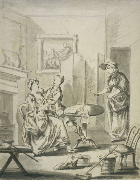 Interior with Figures & Portrait of an Old Man