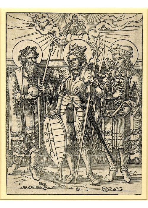 St Ladislas, St Stephen, first Apostolic King of Hungary and his Son St Emery