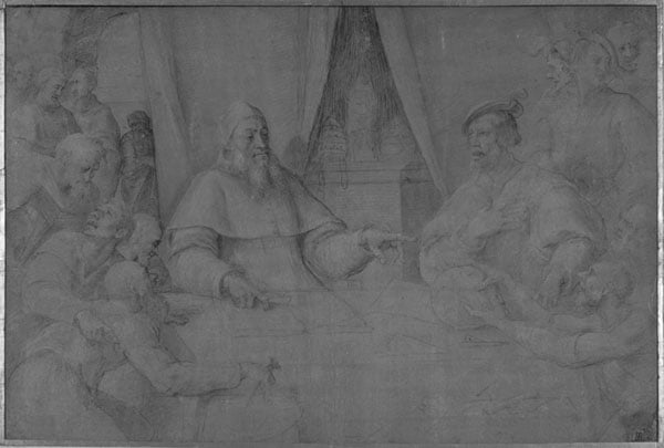 Pope Clement VII in Conference with the Emperor Charles V and Others
