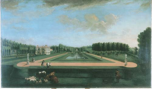 The Long Canal with Gibbs' Temple and the House