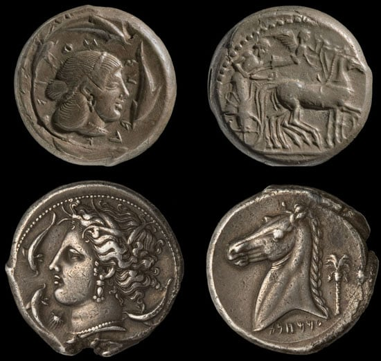 Two Greek coins