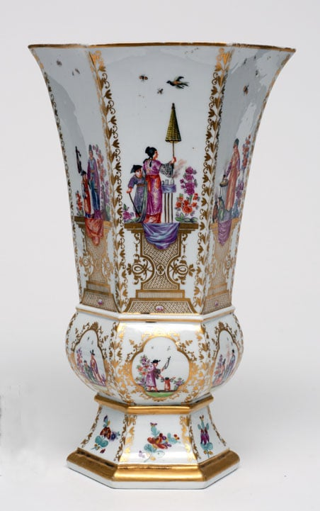Collection of Dresden and Meissen porcelain