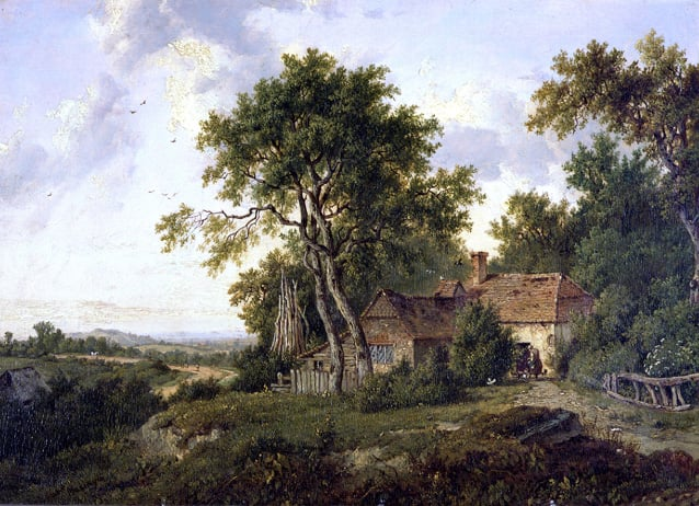 Cottages among Trees