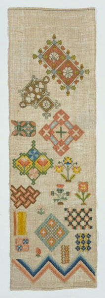 Five pieces of English Embroidery